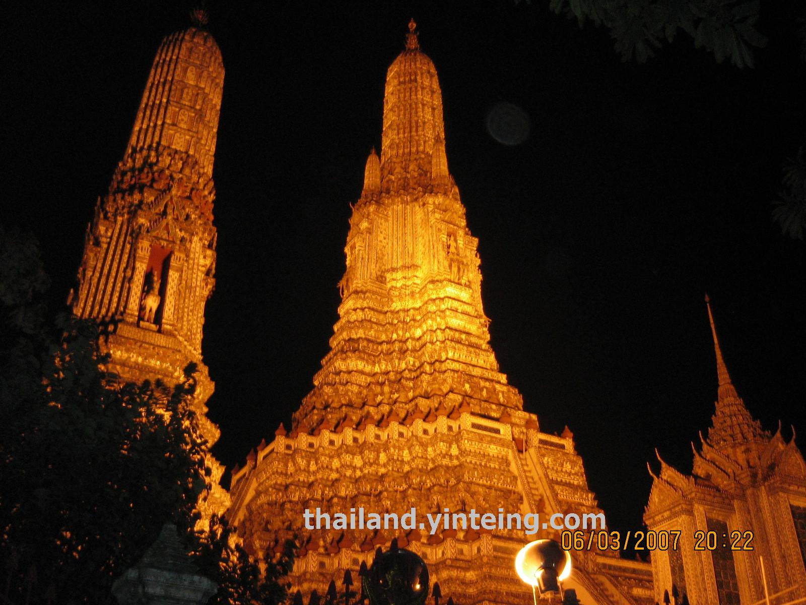 Wat Arun วัดอรุณ Bangkok (view at night)