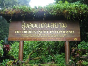 Doi Inthanon highest peak in Thailand