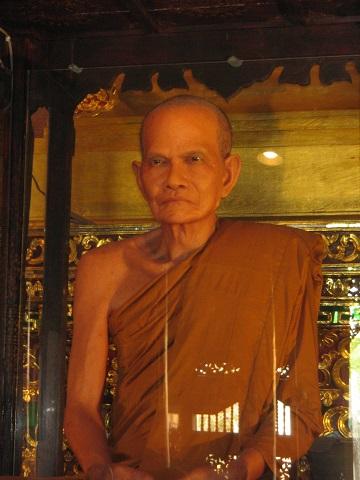 Luang Phor Mun Bhuridatta- wax figure at Wat Chedi Luang