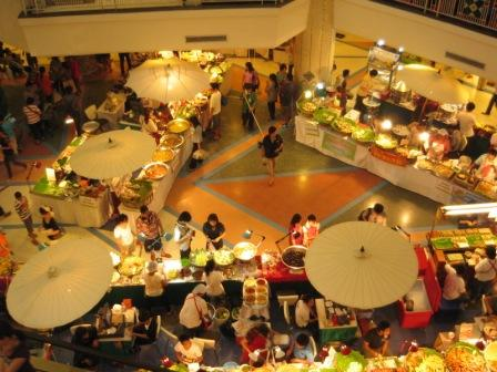 Thai food at shopping complex Chiang Mai Central Plaza