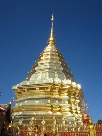 Doi Suthep ดอยสุเทพ Chiang Mai- beautiful Chedi & flower gardens