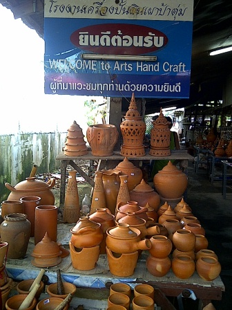 Inside a ceramic and pottery making factory in Thailand