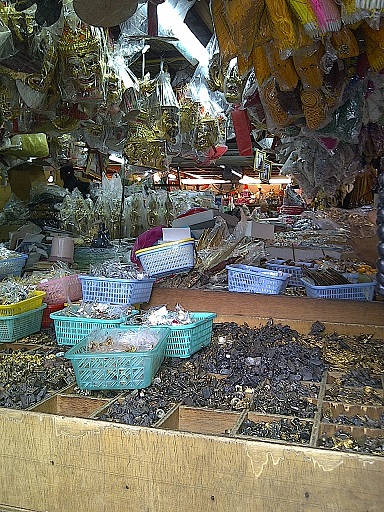 Amulet Market located near Wat Saket