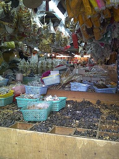 Amulet Market located near Wat Saket