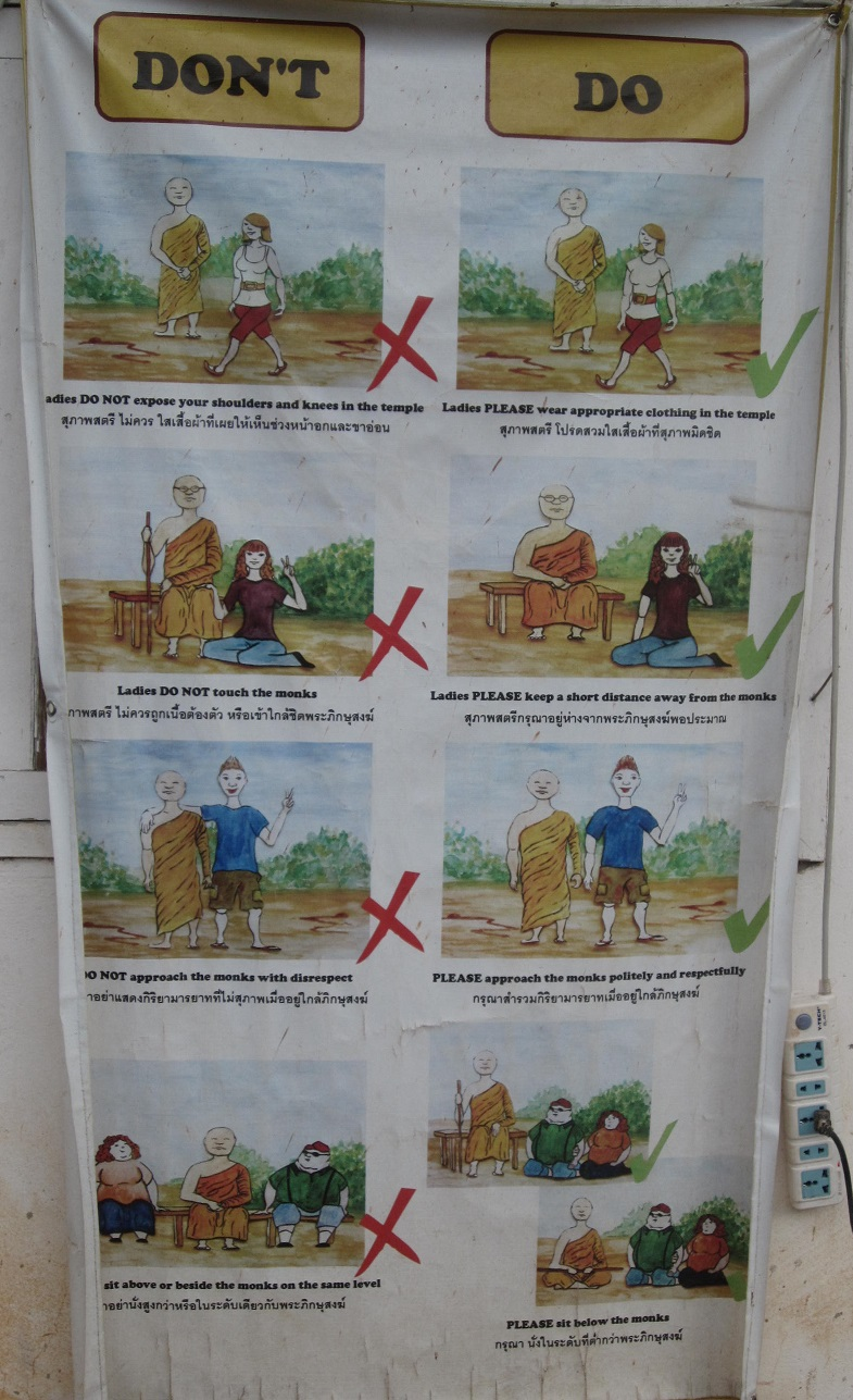 Do and Don't when see a monk in Thailand