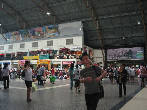 Hualampong Train station in Bangkok หัวลำโพง