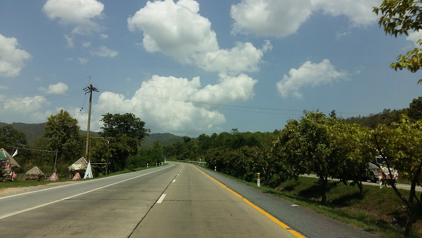 Road trips along highways in Thailand