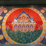 Beautiful wall art in Survanabhumi airport