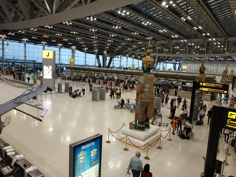 Survanabhumi airport Bangkok Thailand