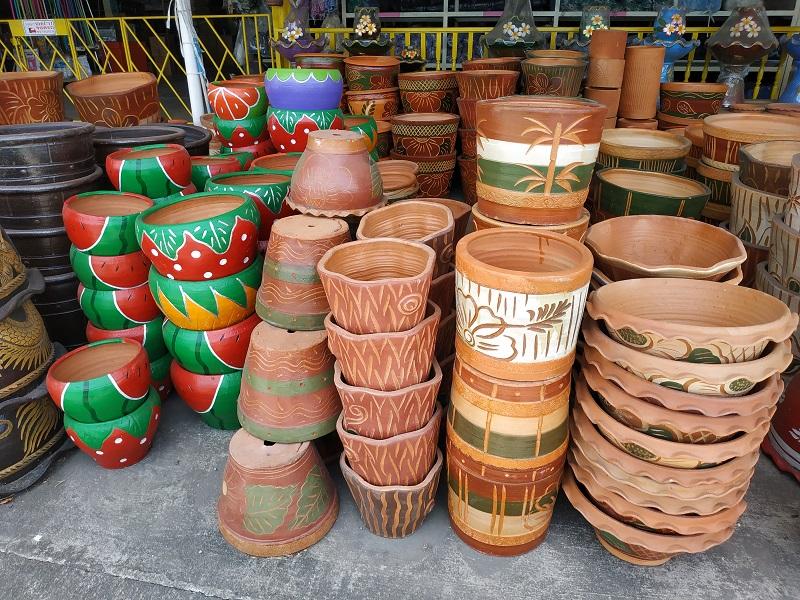 various flower pots design in Thailand