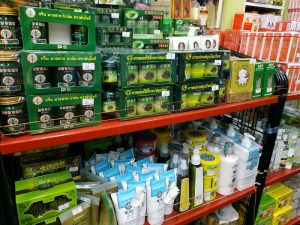 Massage oil and creams for pain relief