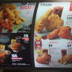 KFC menu in Thailand