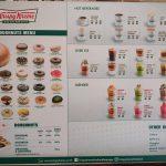 Krispy Kreme Doughnuts menu and pricing in Thailand