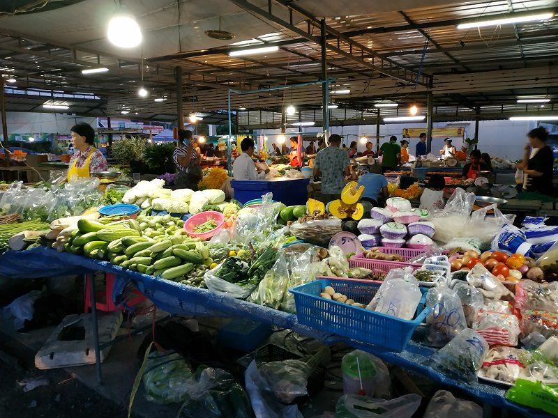 Thai wet market