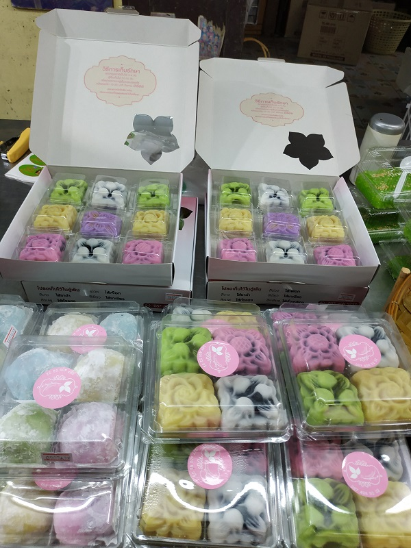 Snow skin lotus mooncakes