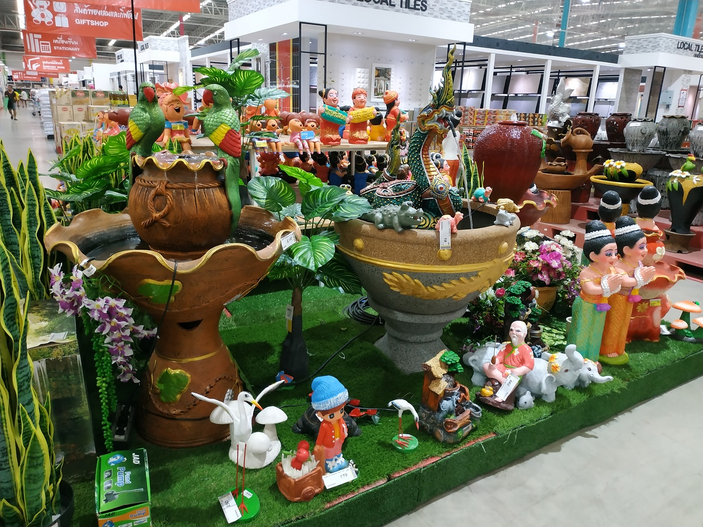 Outdoor and home decorative items at DoHome