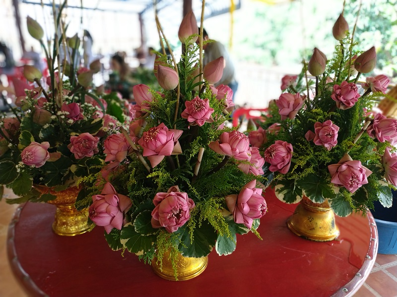 Lotus flower arrangement