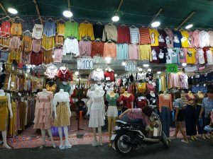 Items on sale at street stalls in Thailand