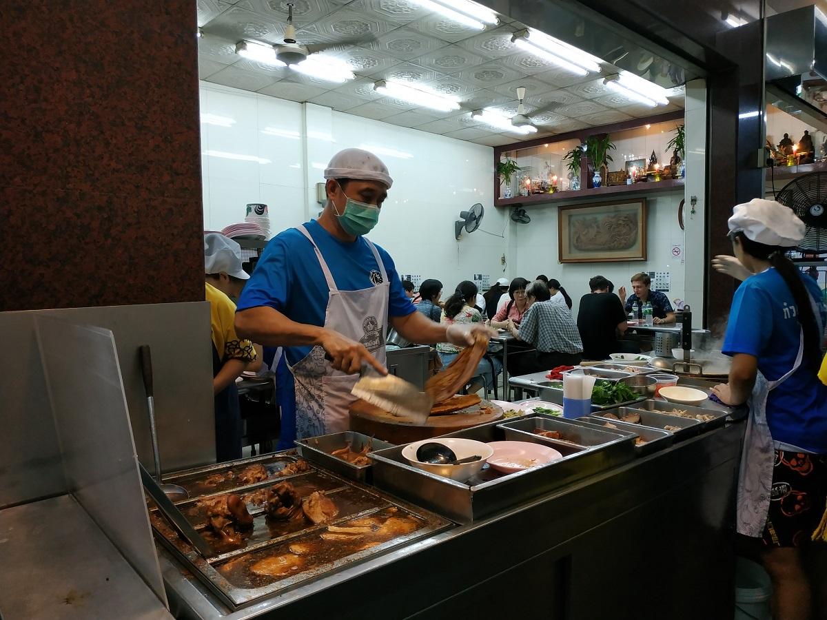 Bangkok Chinatown Yaowarat famous kway chap Nak Eik noodles