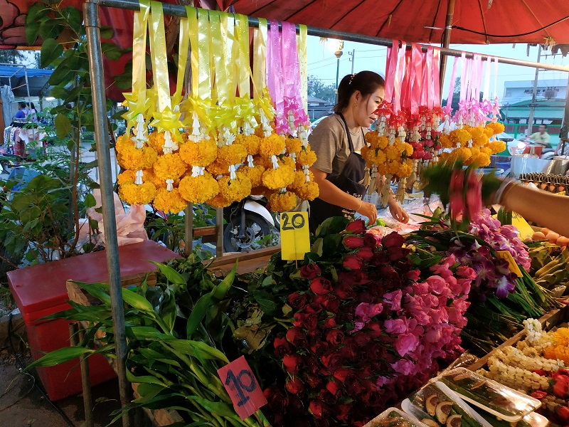 flowers sold at markets