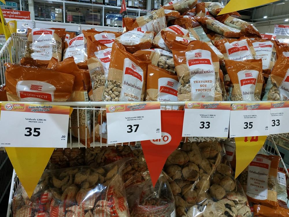 Vegetarian festival food supply at Makro